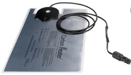 CARBON HEATER 230 VOLT 470x280x1 mm.  GastroNorm 1/1