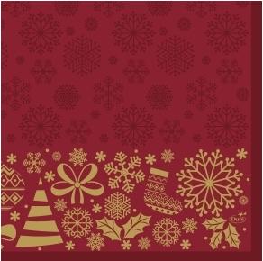 DUNI SERVET dunisoft 40x40 cm  Divine Time Christmass 60stuks