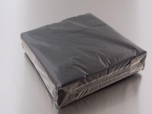 SERVET 33x33 cm 1/4 vouw 2 laags cellulose ZWART