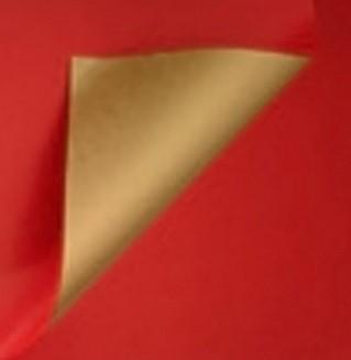 DESSIN INPAK CADEAU PAPIER ROOD / GOUD 995 60 cm x200 mtr.