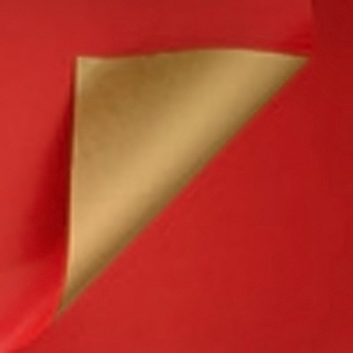 DESSIN INPAK CADEAU PAPIER BRUINKRAFT ROOD GOUD 30 cm x 100 meter 995