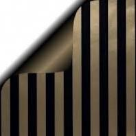 DESSIN INPAK CADEAU PAPIER GOLDEN LINE/MAT BLACK 50 cm 3106