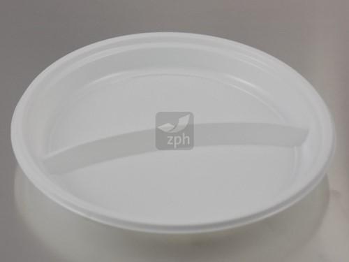 BORD PLASTIC PS WIT Ø 22 cm 2 vaks