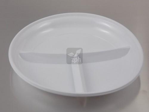 BORD PLASTIC WIT PS Ø 22 cm 3 vaks