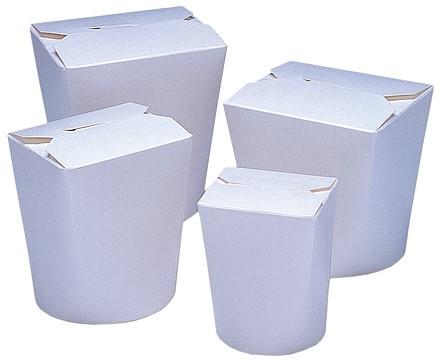 Noodle Wok beker 8 oz 230 ml wit  blanco karton  doos a 500 st