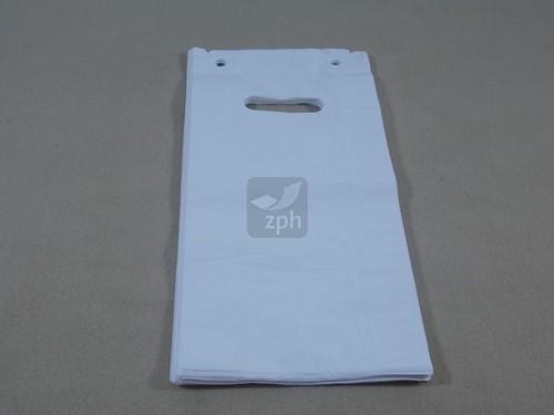 DKT ZIJVOUW TAS HDPE WIT 19x8x37 cm 12 micron