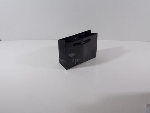 LUXE PAPIEREN GLANS GELAMINEERDE DRAAGTAS 22x8x16 cm ZWART