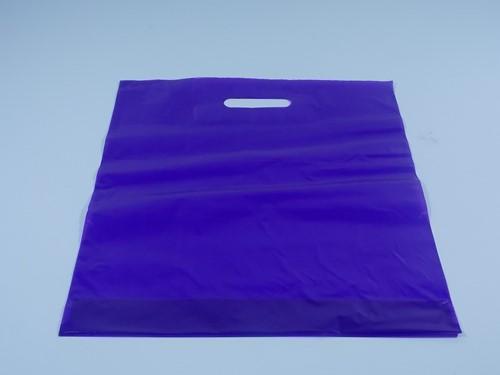 DRAAGTAS PURPLE  DKT (semi transparant 38x44+4 cm 50 micron