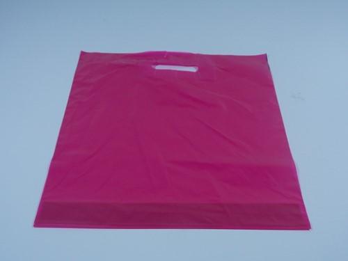 DRAAGTAS ROSE  DKT (semi transparant)  38x44+4  cm  50 micron