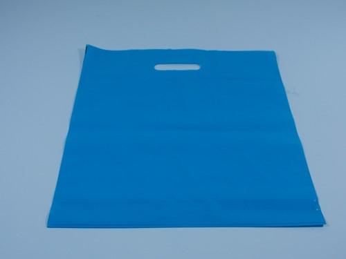DRAAGTAS AQUABLUE  DKT (semi transparant) 38x44+4 cm  50 micron