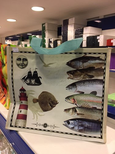 PP WOVEN DRAAGTAS 39x21x34 cm 160 gr   ZEE VIS SEA FISH