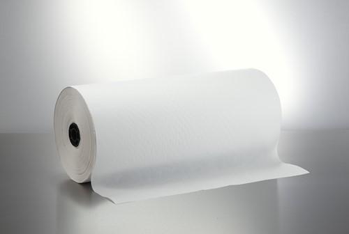 ERSATZ PAPIER  ROL 45 grams WIT  50 cm OP ROL  per kg