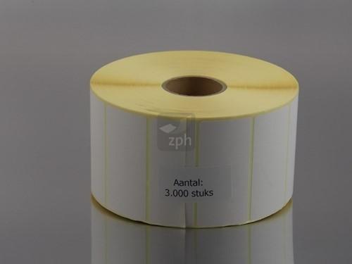 VERZEND ETIKETTEN WIT 75x36 mm rol a 3000 st.