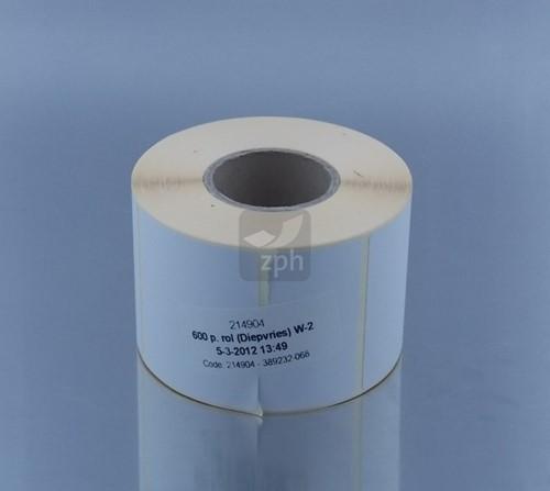 THERMO TOP ETIKET 60x49 mm WIT BLANCO permanente belijming
