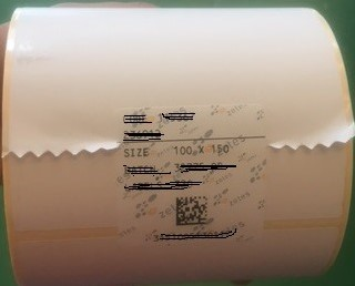 VERZEND ETIKET BLANCO THERMO ECO 100 x 150 mm kern 25 mm rol a 300 st