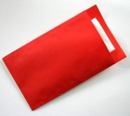 FOURNITUREN ZAK 7x13 cm kraft rood