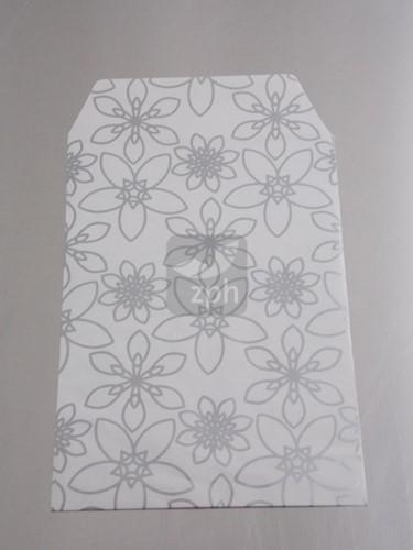 FOURNITUREN ZAK 16x23 cm SILVER FLOWER 100 stuks OP=OP