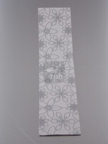 FLESSENZAK SILVER FLOWER 100x410x bodem 80 mm 50 stuks