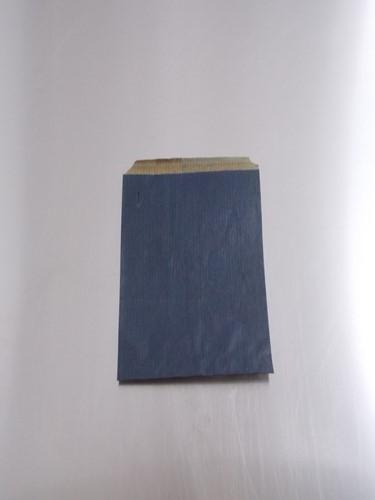 FOURNITUREN ZAK 10x16 cm kraft  BLAUW