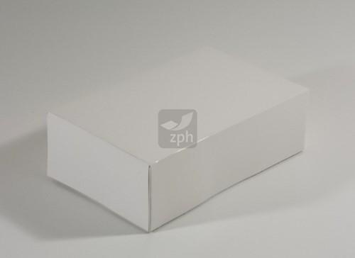 DUPLEX  gebakdoos E4  24x16x8  cm WIT onbedrukt