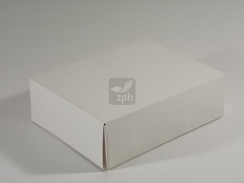 DUPLEX gebakdoos F5  26x20x8 cm WIT onbedrukt