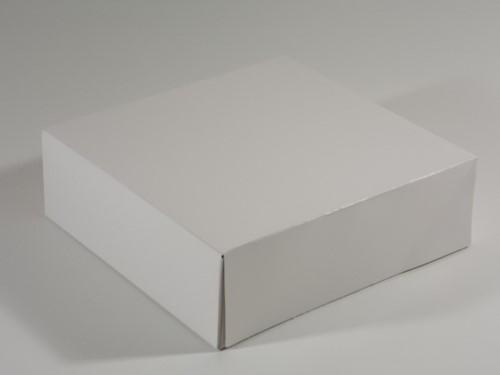 TAARTDOOS ZWANENHALS hoog 30x30x10 cm