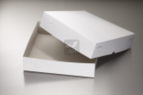 TAARTDOOS ZWANENHALS 30x30x4.5 cm