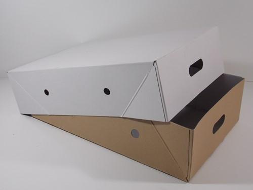 VLEESDOOS 25 kg  57,7x36,7x15 cm  BODEM /  DEKSEL MASSIEFKARTON