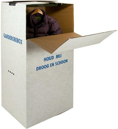 GARDEROBE OPSLAGBOX HOOG+ Hanger-bar 60x52x130 cm bxlxh