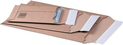 Verzendenveloppe van golfkarton binnenmaat 150x250 mm  buitenmaat 167x268 mm bruin