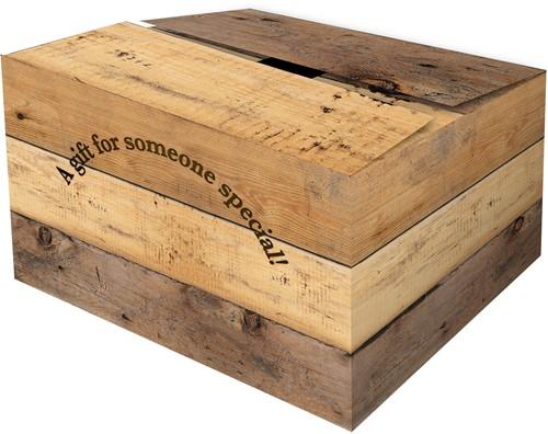 GOLFKARTON GESCHENKDOOS HOUTMOTIEF 390x290x275 mm