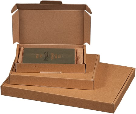 Brievenbusdoos golfkarton A4 310x220x28 bruin