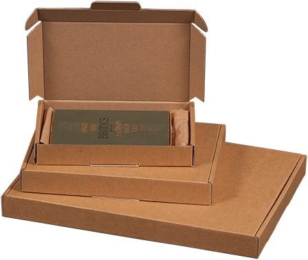 Brievenbusdoos golfkarton A6 180x115x28 mm bruin