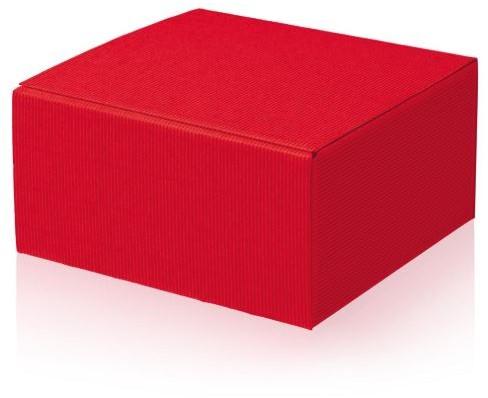 Geschenkdoos open golf 200x200x100 mm rood