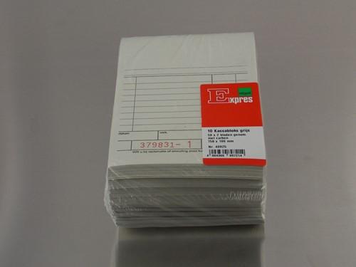 KASSABLOK 100x140 mm 50x2 VEL zelfdoorschrijvend carbon genummerd