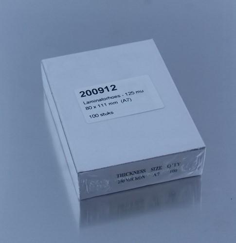 LAMINATORHOES   80X111mm  A7 125 micron