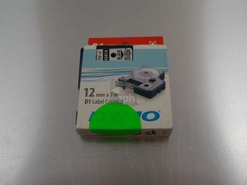 DYMO 45010 black/clear 12 mm/ 7meter per rol