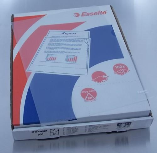 HOESJES voor A4  papier    L zichtmap transparant     doos a 100 stuks