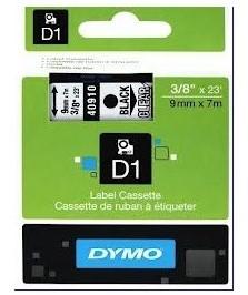 DYMO S0720670 LABEL 9 MM BLACK/ CLEAR