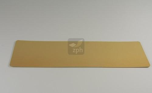 GOUDKARTONS zalm 18 x 55 cm afgeronde hoeken  goud / goud