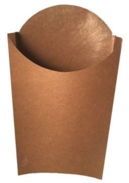 FRITES SCOOP cup Kraft  PE coated cup 83x130x170 mm