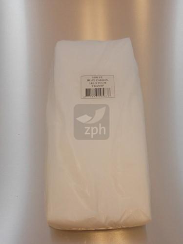 HDPE PLASTIC ZAK 22x35 cm zijvouw (14x8x35) transparant