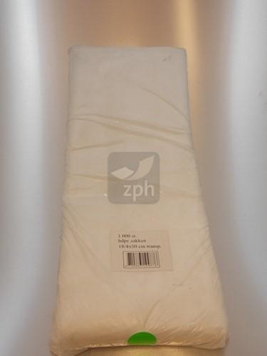 HDPE PLASTIC ZAK 26x50 cm zijvouw (16x10x50) transparant