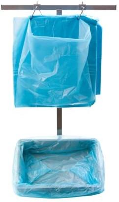 KRATZAK op stift  HDPE 58x44x63 cm 10 mµ blauw