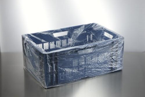 KRATZAKKEN PLASTIC HDPE  68+34x63 cm 20 micron Transparant.