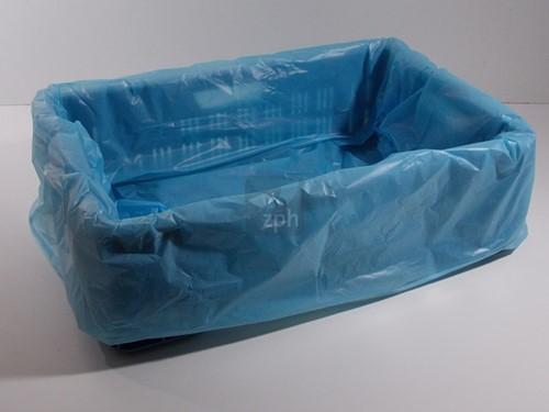KRATZAKKEN PLASTIC HDPE 68x34x63 cm BLAUW  DIK  30 micron