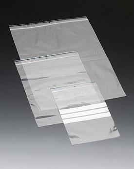 GRIPSEAL ZAKJE MET SCHRIJFVLAK 100x150 mm. met sluitstrip