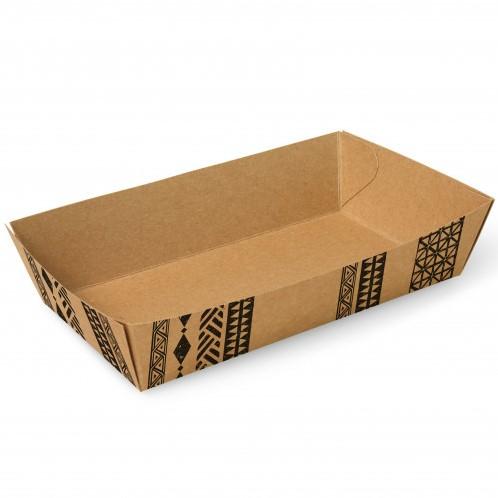 """Snackbakjes A13, karton 15 x 7 x 3,5 cm """"Maori"""" doos a 500 stuks"""