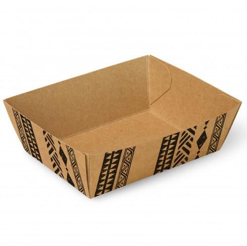 """Snackbakjes A7, karton 9 x 7 x 3,5 cm """"Maori"""", doos a 400 stuks"""