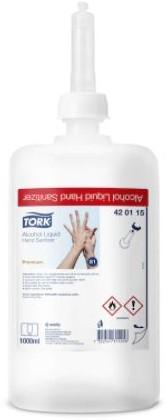 Handontsmetter Tork Alcohol Liquid Hand Sanitizer  420115  S1 SYSTEEM